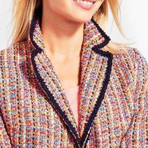 Talbots   16   Tweed Contrast-Trim Jacket